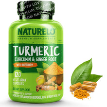 Load image into Gallery viewer, Turmeric Curcumin & Ginger Root with BioPerine