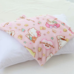 Soft Cartoon Pink Pillow Case and Blanket | RK1374