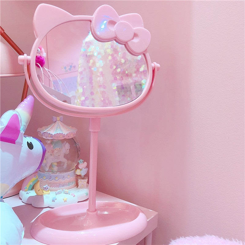 Cute Pink Cat Mirror | RK1376