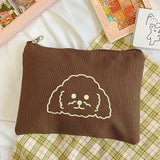 Cartoon Curly Dog Canvas Pencil Case  | RK1326