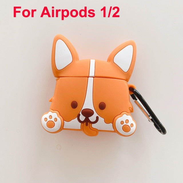 Kawaii Corgi Dog Airpods 3D Case | RK1334