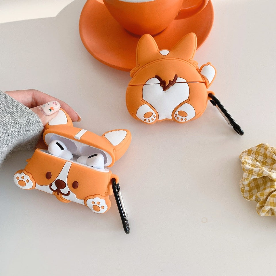 Kawaii Corgi Dog Airpods 3D Case rennoya kawaii shop