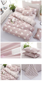 Pink Heart Kawaii Bedding Set | RK1349