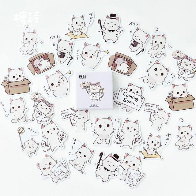 45pcs/lot Cute Selfie Cats Decorative Adhesive Stickers | RK1310