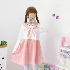 Sweet Summer Cute Rabbit Uniform Dress | RK1360