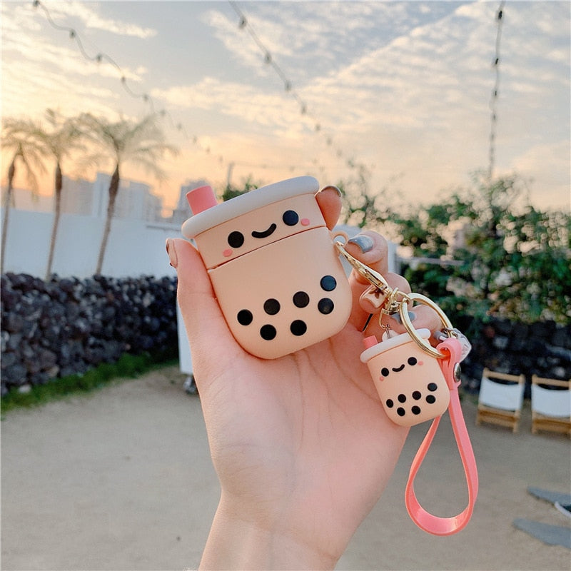 Cute Bubble Tea Airpods Case rennoya kawaii case