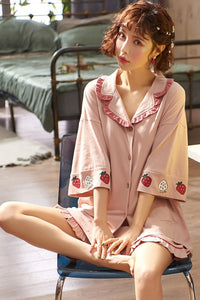 Cotton Short Sleeve Pajamas | RK1320
