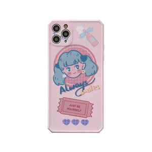 Sweet Blue Hair Girls Phone Case | RK1507