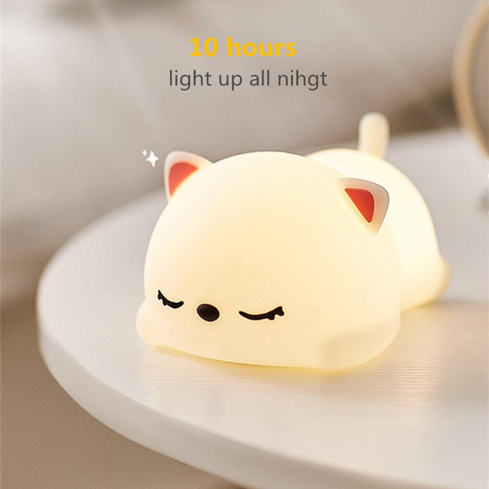 Cat LED Night Colorful Lamp | RK1452