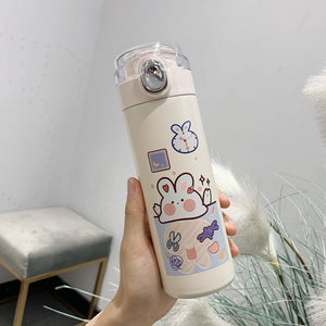450ml Cute Bear Stainless Steel Vacuum Bottle | RK1484