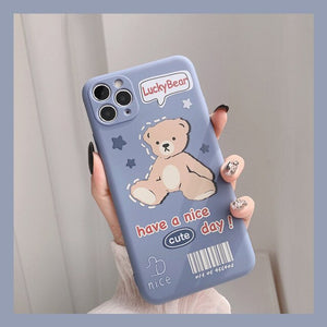 Kawaii Retro lucky bear doll Phone Case | RK1434