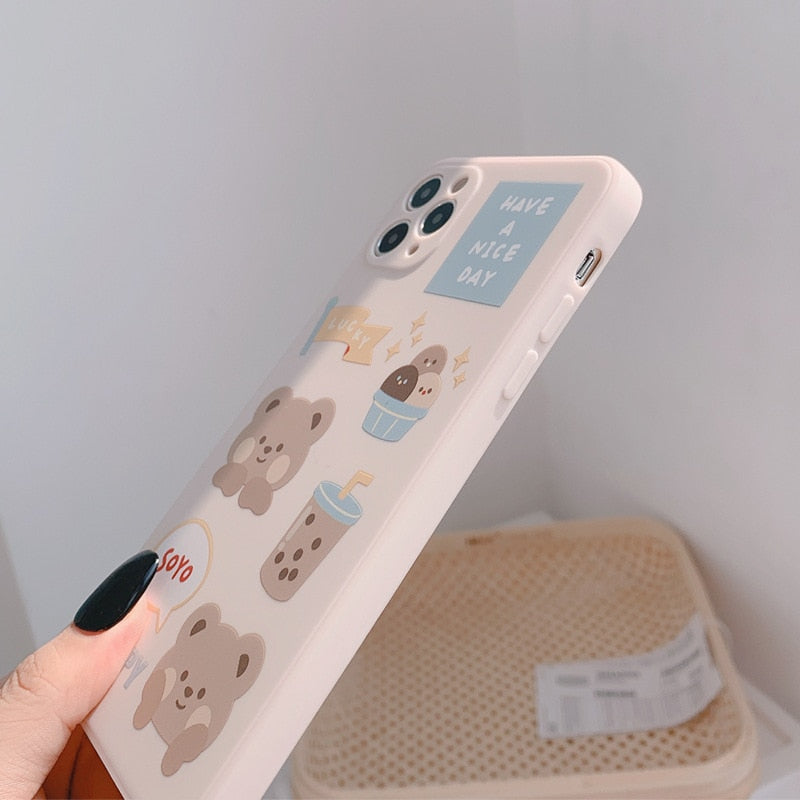 Sweet Bubble tea Milk tea bear Phone Case | RK1433