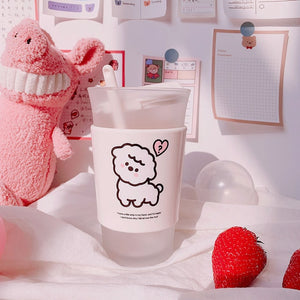 Kawaii Cup With Spoon and Lid | RK1398