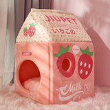 Cute Milk Box Pet House | RK1517
