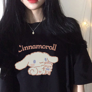 Black Cinnamoroll T-shirt | RK1482