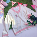 Peach and Strawberry Sweater | RK1494