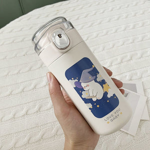 320/450ml Cartoons Stainless Steel Vacuum Bottle | RK1485