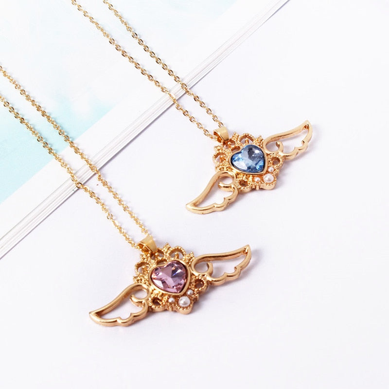 Angel Wings Heart Necklace | RK1418