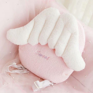 Pink Angel Wings Plush Backpacks | RK1417