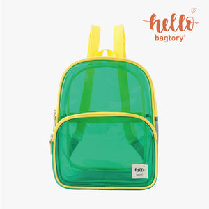 HELLO Colored Transparent Toteby handbag & Backy backpack | for travel, swimming | outstanding and fashionable | quick check before going out