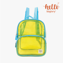 Load image into Gallery viewer, HELLO Colored Transparent Toteby handbag & Backy backpack | for travel, swimming | outstanding and fashionable | quick check before going out
