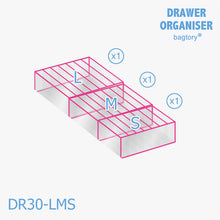 Load image into Gallery viewer, BAGTORY Drawer Storage Compartment or Organizer | DR | for Clothes, Socks, Underwear, neatly organized