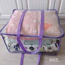 Load image into Gallery viewer, BAGTORY W-Wide Opening E-See Storage Bag (82L) | Extra large Size | Home Storage Transparent Bag, Organizer For Winter Clothing, Bedding, Quilts, Pillow, Blanket