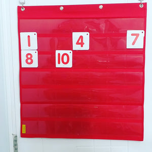 BAGTORY Small Grid Pocket Chart | PC86 | can be used as a monthly calendar, simple English word or counting game