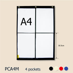 BAGTORY A4 Size Large grid pocket chart | PCA4 | Letter & notice pocket chart | Display all kinds of letters, notices, and cards neatly and clearly