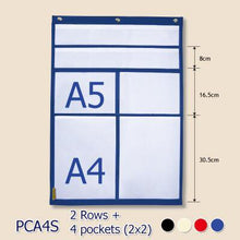 Load image into Gallery viewer, BAGTORY A4 Size Large grid pocket chart | PCA4 | Letter & notice pocket chart | Display all kinds of letters, notices, and cards neatly and clearly