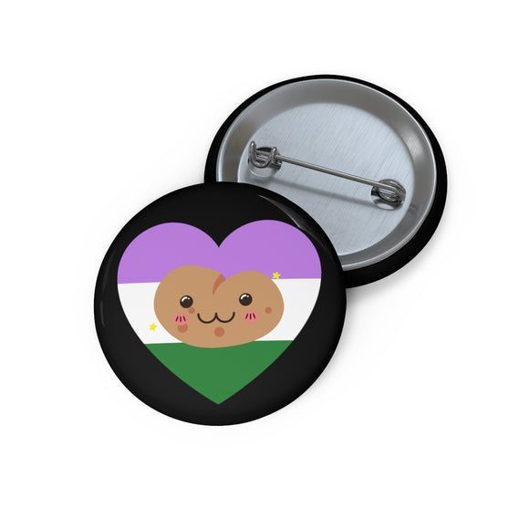 Genderqueer Pride Potato Button