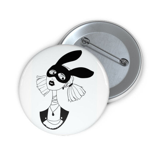 Bunny Mask Button