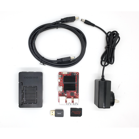 Image of PepperTech Digital ODROID-C4 Single Board Computer Value Pack with Ubuntu MATE
