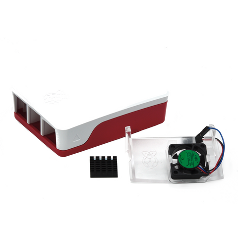 Image of PepperTech Digital Official Raspberry Pi 4 Case and Case Fan Value Pack (Red/White)