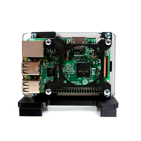 TerraPi Raspberry Pi SSD Case / RPi NAS Server Case with Fan Mount