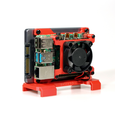 Image of TerraPi Raspberry Pi SSD Case / RPi NAS Server Case with Fan Mount