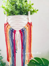 Load image into Gallery viewer, Rainbow Fringe Plant Hanger