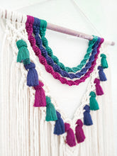 "Load image into Gallery viewer, Macrame Wall Hanging - ""Jewel"""