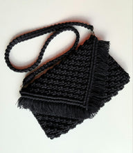 Load image into Gallery viewer, Black Macrame Purse