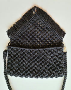 Black Macrame Purse