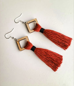 Red Amber Earrings & Keychain