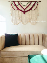 "Load image into Gallery viewer, Large Macrame Wall Hanging - ""Royalty"""