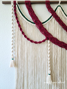 "Large Macrame Wall Hanging - ""Royalty"""