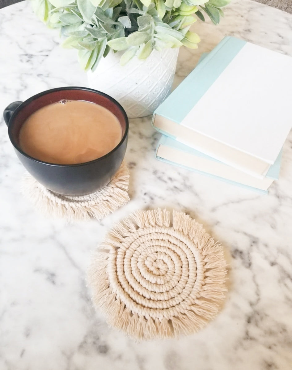Macrame Coaster Set - Neutral