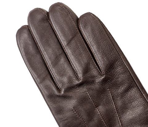 Brown Men's Nappa Leather Gloves