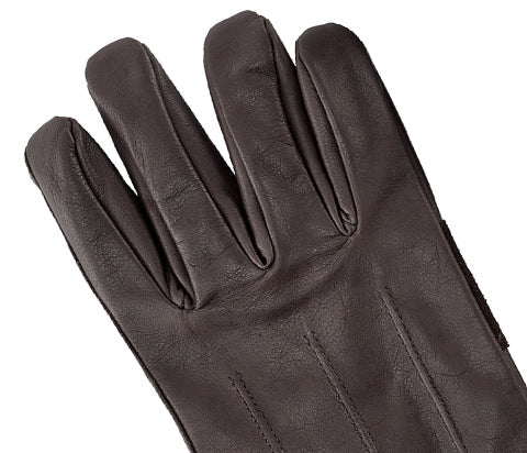 Brown Men's Rugged Leather Gloves
