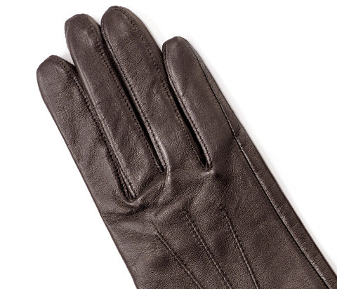 Brown Women's Nappa Leather Gloves