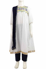 Load image into Gallery viewer, White Pathani Kurti Pant