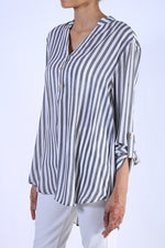 Load image into Gallery viewer, Striped Georgette Tunic