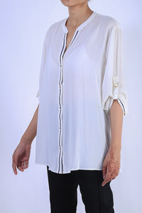 Twill Tape Georgette Top